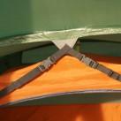 Detailaufnahme der Abspannung im Vorzelt