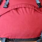 Großes Schlafsackfach mit rundumlaufenden Reißverschluss.