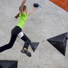 Sprunggewaltig  an der Wand: Rosalie. Am Ende ein hervorragender 3. Platz.