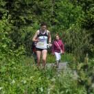Pure Erleichterung, das die Läuferin der eXa den Weg auf den Keilberg gefunden hat!