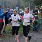 Frauenpower am Morgen: die Leipziger Laufschnecken beim ersten Wechsel