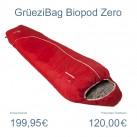 Schlafsack mit Wollfüllung: Biopod zero von GruetziBag