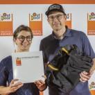 Gold-Sieger: Glückwunsch von uns auch an Muriel von EXPED Expedition Equipment (copyright outdoor 2016)