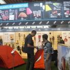 Auf dem Messestand von Cascade Design mit den MSR-Zelten