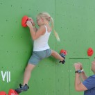 Bouldercup am Gaudlitzberg: die jüngste Teilnehmerin (Foto: Steffen Wunderlich)