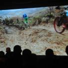 Danach ging es mit dem Filpmprogramm weiter, mit rasanten Mountainbike-Abfahrten...