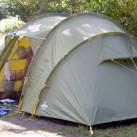 Das Zelt im bewohnten Zustand