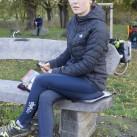 Kari Traa Rose LS: als zweite Bekleidungslage beim Pausieren auf der Radtour