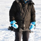 Gut warm in der sibirischen Kälte auf dem Baikalsee