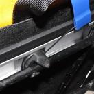 Drehhaken zurückgesprungen: Die Tasche hält am Gepäckträger