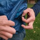 Einschubtasche mit Schlüsselkarabiner