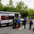 Großes Interesse am Patagonia Worn-Wear-Truck am 25. April 2017 beim tapir in Leipzig