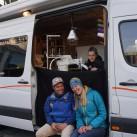 Durchgefroren, aber glücklich: das Team vom Patagonia Worn-Wear-Team