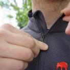 Zippergarage am Frontreißverschluss