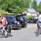 Die Leichtfüßer sind auch schon da - zumindest die Radfahrer.