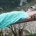 Pyua Ascend Hooded Women: elastische und hoffentlich lange pillingfreie Einfassung der Daumenschlaufen