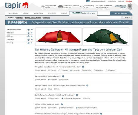 Neu: Zelte individualisieren im Hilleberg-Zeltkonfigurator