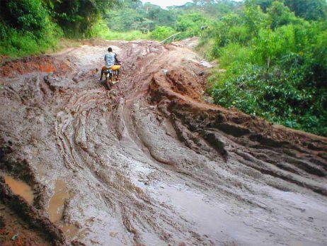 Die Westküste Afrikas mit dem Moped