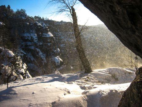 Sächsisches Wintermärchen in Deutschland – Boofen im Januar