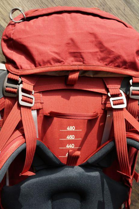 Rückenlänge des Lundhags Gnaur 60