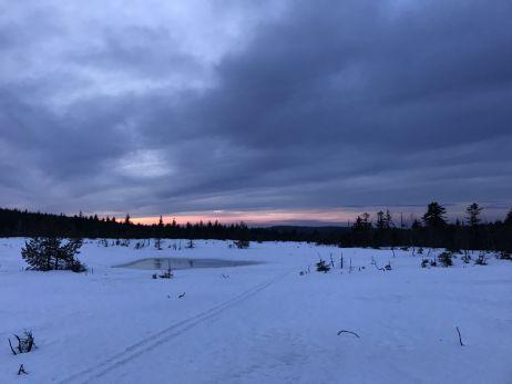 Zelten im Schnee