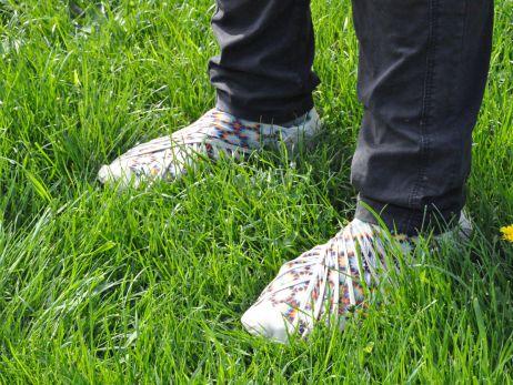 Wickelschuh statt Wickelrock – Furoshiki von Vibram