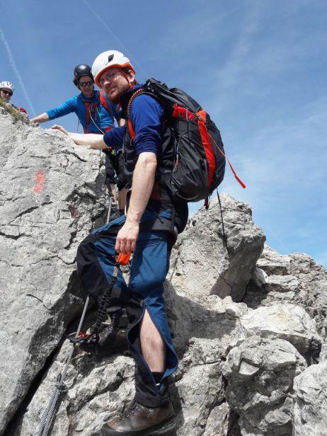 Kontrastprogramm auf dem Hindelanger Klettersteig
