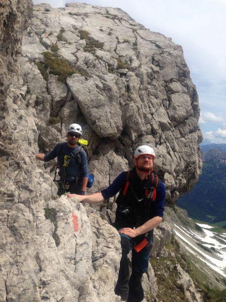 Mit dem Osprey Exos 38 auf dem Hindelanger Klettersteig