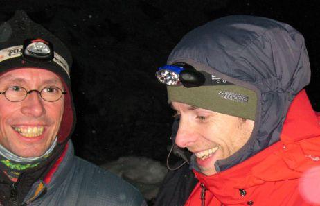 Alex und Matthi beim gemeinsamen Frieren 1997