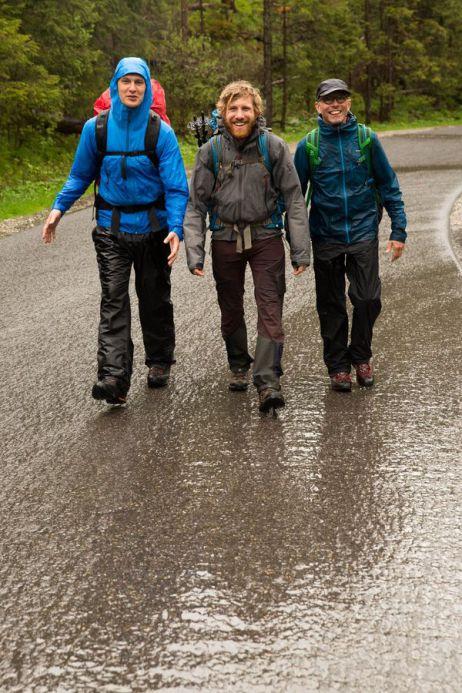 Auch Regen verdirbt die gute Laune nicht!