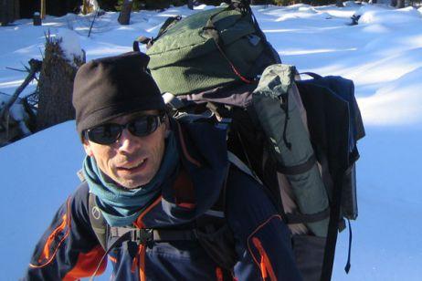 Voll bepackt auf Wintertour
