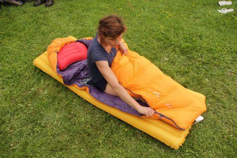 Trek TKI Women - Der Schlafsack lässt sich leicht öffnen und schließen