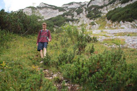 Beim Abstieg in Richtung Crno Jezero