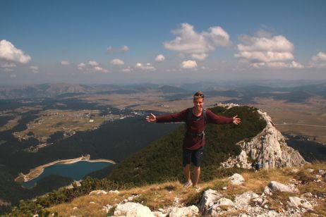 Gipfel des Medjed mit Blick auf den Crno Jezero