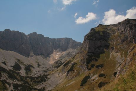 Gletscher vor dem Gipfel des Meded