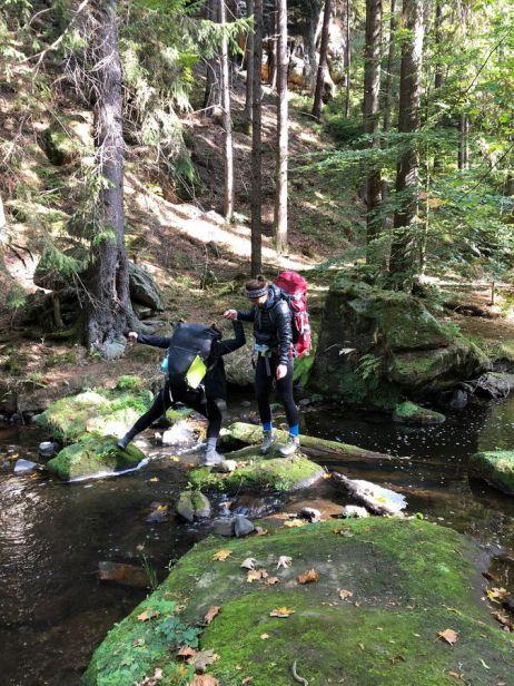 Teamwork in der Sächsischen Schweiz