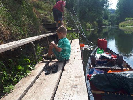 Wasserwandern mit Familie auf der Unstrut