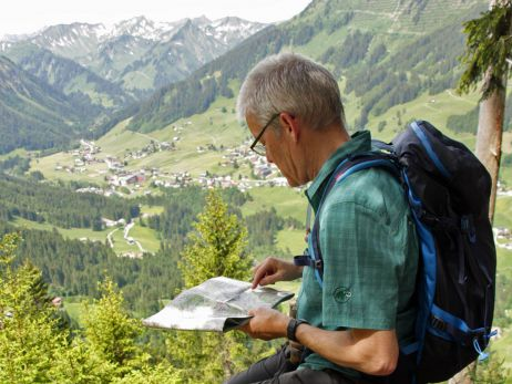 Hoch hinaus mit dem Tourenrucksack Rupal von Vaude