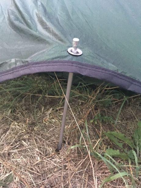 Laser Pulse 1 - Mit dickerem Hering hält das Zelt besser