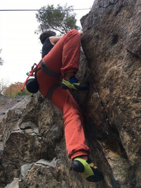 Klettern am Prophyr