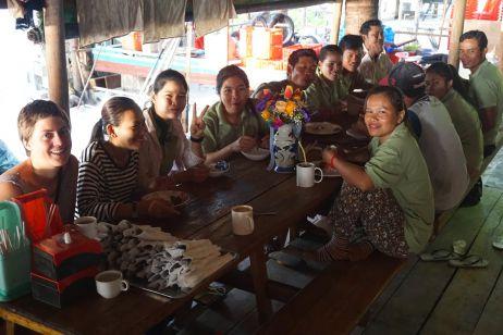 Mittagessen mit den Mitarbeitern des Resorts