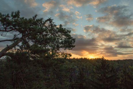 Sonnenaufgang auf der Johanniswacht