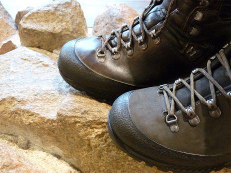 Hinten: Frisch gewachster Schuh
