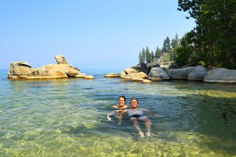 Abkühlung im Lake Tahoe