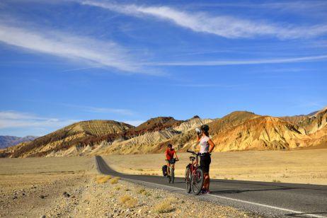 Das Death Valley ist nur im Frühjahr und Herbst für Reiseradler zu empfehlen