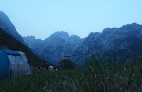 Ein Camping-Spot wie gemalt