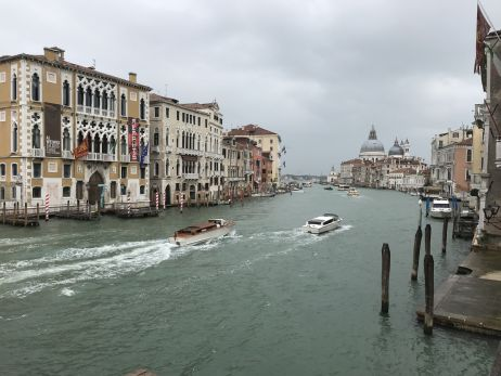 Bedeckter Himmel in Venedig