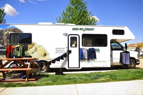 Oft teilen wir uns den Zeltplatz mit anderen Campern - oder ihren Wohnwagen