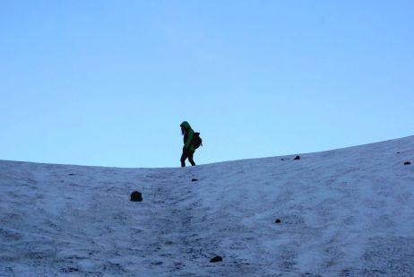 Auf dem Berg lag auch durchaus Schnee!