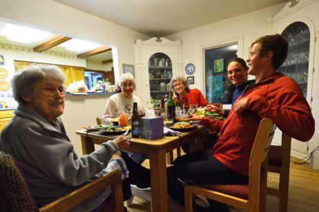 Zu Gast bei Warmshowers-Gastgebern Peggy und Warren und Grandma Louis